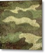 Camo Distressed Hard Version Metal Print