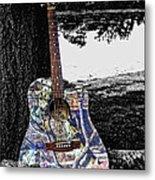 Camo Guitar Metal Print