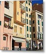 Camogli - Homes And Promenade Metal Print