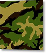 Camouflage Military Tribute Metal Print