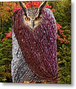 Camouflaged Owl Metal Print