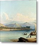 Camp Of The Gros Ventres Of The Prairies Metal Print