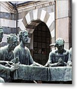 Campari Grave Marker Detail IIi Disciples Last Supper Metal Print