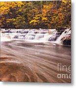 Campbell Falls In Autumn Metal Print