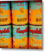 Campbell's Soup Retro Andy Warhol Metal Print