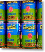 Campbell's Tomato Soup Retro Andy Warhol Metal Print