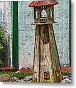 Campers Lighthouse Metal Print