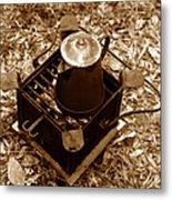 Camping Coffee Metal Print