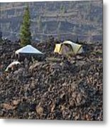 Camping On The Moon Metal Print