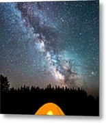 Camping Under The Stars Metal Print