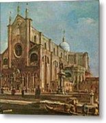 Campo Dei Santi Giovanni E Paolo And The Scuola Grande Di San Marco, Venice Oil On Canvas Metal Print