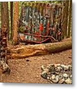 Campsite By The Box Car Metal Print