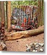 Campsite Near A Train Wreck Metal Print