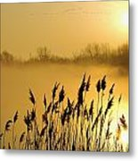 Canada Geese In Flight At Sunrise Metal Print