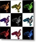 Canada Goose Pop Art - 7585 - V1 - M Metal Print