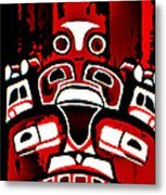 Canada - Inuit Village Totem Metal Print