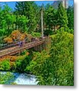 Canada Island Bridge Metal Print by Dan Quam