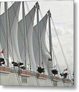 Canada Place Sails Metal Print