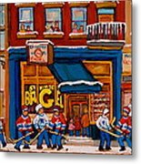Canadian  Artists Paint Hockey And Montreal Streetscenes Over 500 Prints Available  Metal Print