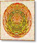 Canadian Fall Colors Conversion Into Chakra Wheel Deco Enery Mandala Metal Print