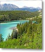Canadian Highway Lake Metal Print