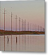 Canadian Hole Outer Banks At Sunset Metal Print