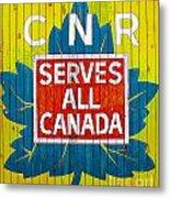 Canadian National Railway Stamp Metal Print