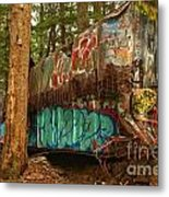 Canadian Pacific Box Car Wreckage Metal Print
