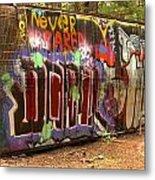 Canadian Pacific Train Wreck Graffiti Metal Print