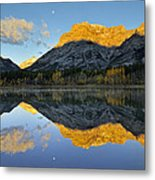 Canadian Rocky Mountain Autumn Landscape Metal Print