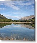 Canadian Rocky Mountains With Lake  Metal Print
