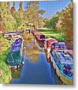 Canal Barges Metal Print