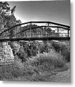 Canal Bridge Metal Print