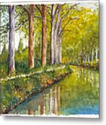 Canal Du Midi At Toulouse France Metal Print