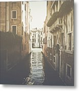 Canal In Venice Italy Applying Retro Instagram Style Filter Metal Print