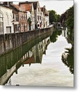 Canal Reflection  Metal Print