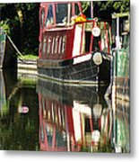 Canal Reflections Cropped Metal Print