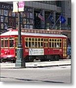 Canal Street Streetcar Metal Print