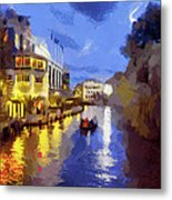 Water Canals Of Amsterdam Metal Print