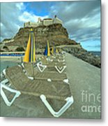 Canarian Loungers  Metal Print