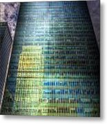 Canary Wharf Reflections Metal Print
