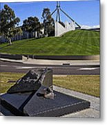 Canberra - Memorial And Parliament House Metal Print