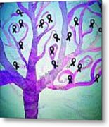 Cancer Survivors' Tree Metal Print by Jackie Bodnar