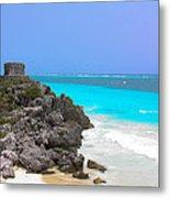 Cancun Ocean Front Metal Print