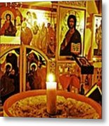 Candle And Icons Metal Print