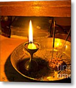 Candle And Incense Sticks Metal Print