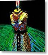 Candle Bust Metal Print