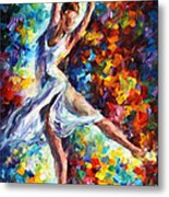 Candle Fire - Palette Knife Oil Painting On Canvas By Leonid Afremov Metal Print