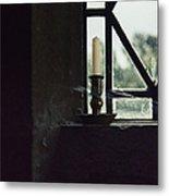 Candle In The Window Metal Print