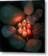 Candle Meet Metal Print
